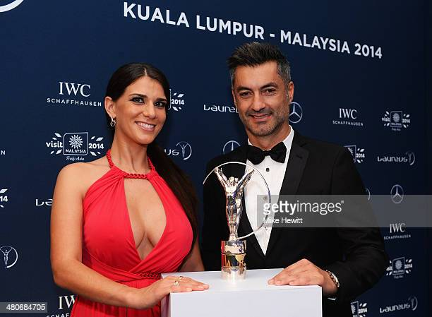 Vitor Baia and guest attends the 2014 Laureus World Sports Awards at the Istana Budaya Theatre on March 26 2014 in Kuala Lumpur Malaysia