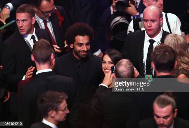 Vitor Baia and Pierluigi Collina presents FIFA Fair Play Award during The Best FIFA Football Awards at Royal Festival Hall on September 24 2018 in...