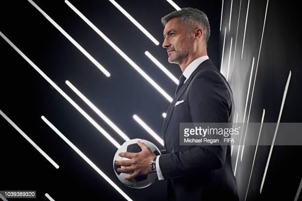 Vitor Baia is pictured inside the photo booth prior to The Best FIFA Football Awards at Royal Festival Hall on September 24 2018 in London England