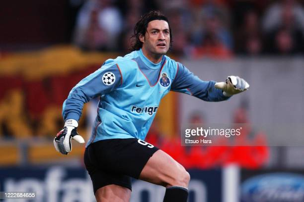 Vitor Baia of Porto in action during the UEFA Champions League final between AC Monaco and Porto at the Arena AufSchalke on May 26 2004 in...