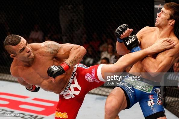 Vitor Belfort knocks out Luke Rockhold with a spinning heel
