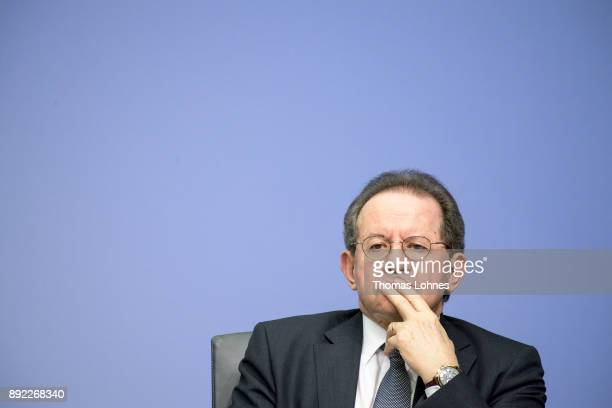 Vitor Constancio Vicepresident of the European Central Bank pictured during the press conference following a meeting of the ECB Governing Council on...