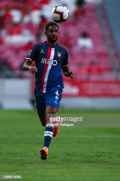 Vitor Costa of Desportivo das Aves during the Liga NOS match between SL Benfica and CD Aves at Estadio da Luz on September 23 2018 in Lisbon Portugal