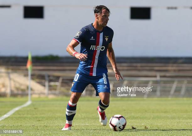 Vitor Gomes of Desportivo das Aves in action during the Liga NOS match between Vitoria FC and CD Aves at Estadio do Bonfim on August 11 2018 in...