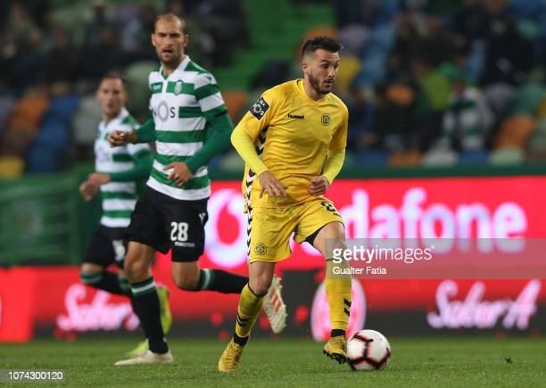 Vitor Goncalves of CD Nacional in action during the Liga NOS match between Sporting CP and CD Nacional at Estadio Jose Alvalade on December 16 2018...