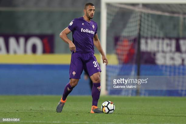 Vitor Hugo of ACF Fiorentina in action during the serie A match between ACF Fiorentina and SS Lazio at Stadio Artemio Franchi on April 18 2018 in...