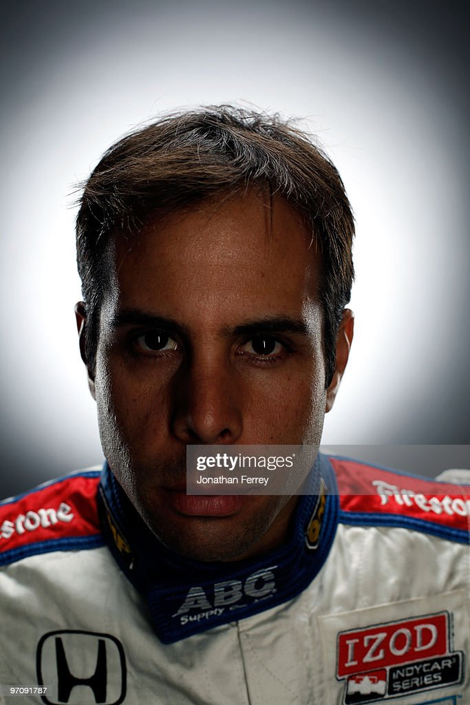 Vitor Meira driver of the #14 A. J. Foyt Enterprises Honda Dallara poses for a portrait during the IRL Indy Car Series Media Day at Barber Motorsports Park on February 23, 2009 in Leeds, Alabama.