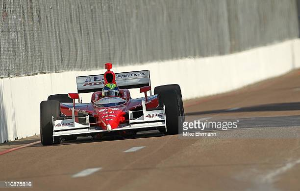 Vitor Meira driver of the ABC Supply AJ Foyt Enterprises Honda Dallara during practice for the IndyCar Series Honda Grand Prix of St Petersburg on...