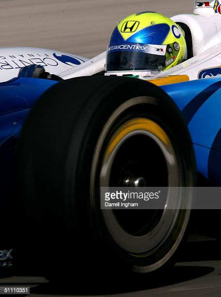 Vitor Meira drives the Rahal Letterman Racing Centrix Honda GForce during practice for the Indy Racing League IndyCar Series Menards AJ Foyt Indy 225...