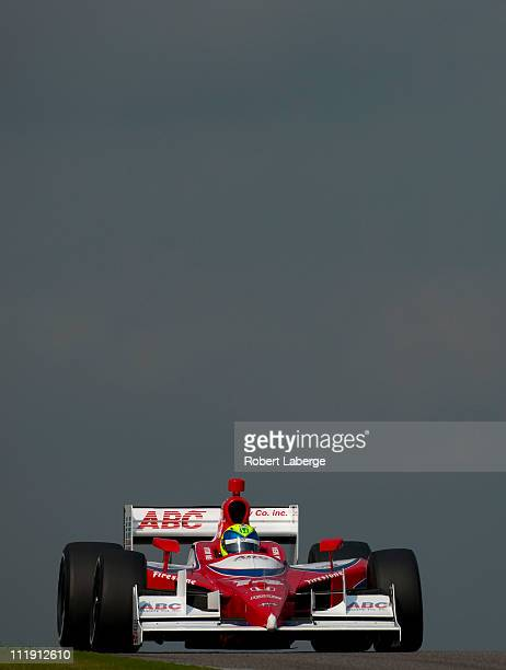 Vitor Meira of Brazil driver of the A J Foyt Enterprises Dallara Honda during practice for the IndyCar Series Honda Indy Grand Prix of Alabama at...