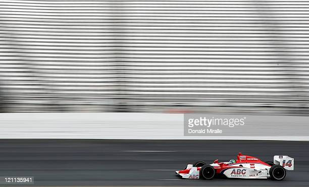 Vitor Meira of Brazil driver of the ABC Supply Co AJ Foyt Racing Dallara Honda during the warnmup for the the IZOD IndyCar Series MoveThatBlockcom...