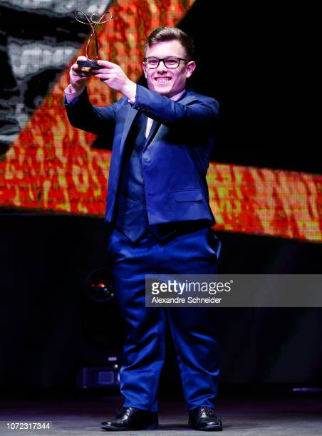 Vitor Tavares paralympic badminton player poses for photo after winning the best parabadminton athlete during the Brazil Paralympics Awards Ceremony...