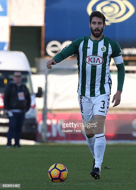 Vitoria de Setubal defender Frederico Venancio in action during Portuguese League Cup match between Vitoria Setubal and FC Arouca at Estadio do...
