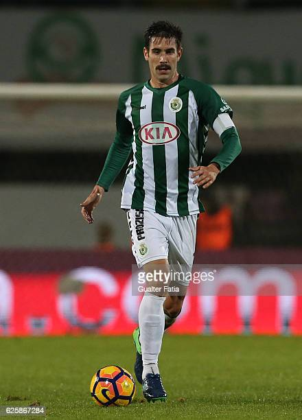 Vitoria de Setubal's defender Frederico Venancio in action during Primeira Liga match between Vitoria Setubal and Rio Ave FC at Estadio do Bonfim on...
