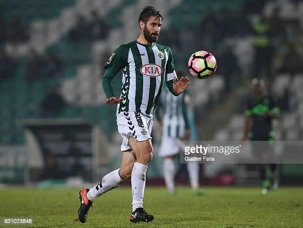 Vitoria de Setubal's defender Frederico Venancio in action during Portuguese League Cup match between Vitoria Setubal and Sporting CP at Estadio do...