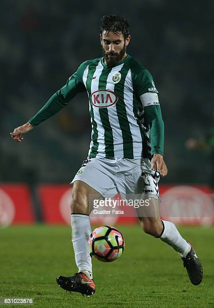 Vitoria de Setubal's defender Frederico Venancio in action during Portuguese League Cup match between Vitoria Setubal and Sporting CP at Estadio do...