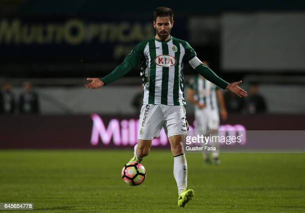 Vitoria de Setubal's defender Frederico Venancio in action during Primeira Liga match between Vitoria Setubal and SC Braga at Estadio do Bonfim on...