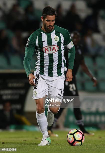 Vitoria de SetubalÕs defender Frederico Venancio in action during the Primeira Liga match between Vitoria Setubal and Vitoria Guimaraes at Estadio do...