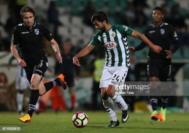 Vitoria de Setubal's forward Joao Amaral in action during the Primeira Liga match between Vitoria Setubal and Vitoria Guimaraes at Estadio do Bonfim...