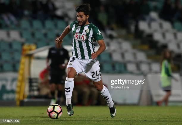 Vitoria de SetubalÕs forward Joao Amaral in action during the Primeira Liga match between Vitoria Setubal and Vitoria Guimaraes at Estadio do Bonfim...