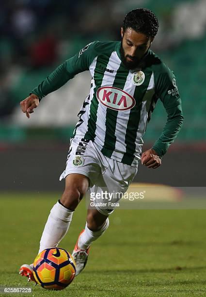Vitoria de Setubal's forward Joao Costinha in action during Primeira Liga match between Vitoria Setubal and Rio Ave FC at Estadio do Bonfim on...