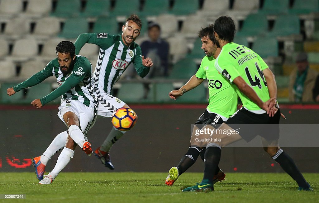 Vitoria de Setubal's forward Joao Costinha in action during Primeira Liga match between Vitoria Setubal and Rio Ave FC at Estadio do Bonfim on November 25, 2016 in Setubal (Lisbon), Portugal.