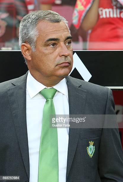 Vitoria de Setubal's head coach Jose Couceiro before the start of the Primeira Liga match between SL Benfica and Vitoria de Setubal at Estadio da Luz...