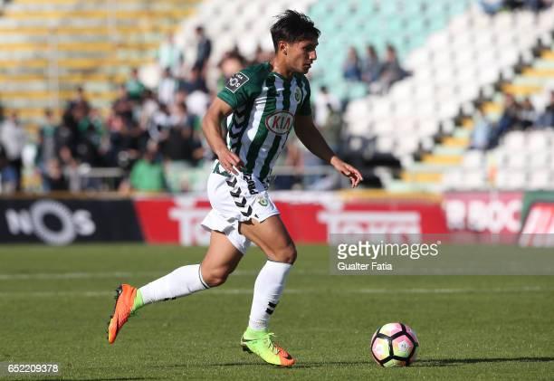 Vitoria de Setubal's midfielder Joao Carvalho in action during the Primeira Liga match between Vitoria Setubal and CD Feirense at Estadio do Bonfim...