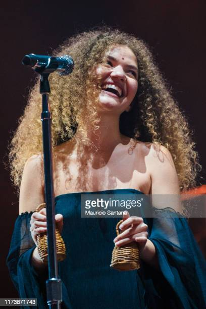 Vitoria Falcao of Anavitoria performs live on stage during day 6 of Rock In Rio Music Festival at Cidade do Rock on October 5 2019 in Rio de Janeiro...
