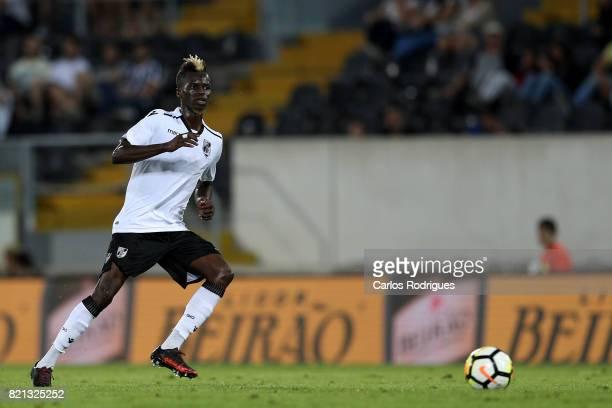 Vitoria Guimaraes defender Falaye Sacko from Mali during the match between Vitoria Guimaraes v FC Porto match for the Guimaraes City Trophy at...