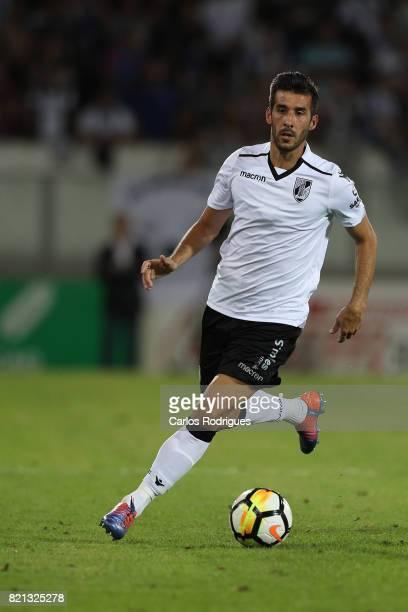Vitoria Guimaraes defender Joao Aurelio from Portugal during the match between Vitoria Guimaraes v FC Porto match for the Guimaraes City Trophy at...