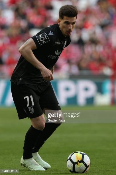 Vitoria Guimaraes forward Fabio Sturgeon from Portugal in action during the Primeira Liga match between SL Benfica and Vitoria Guimaraes at Estadio...