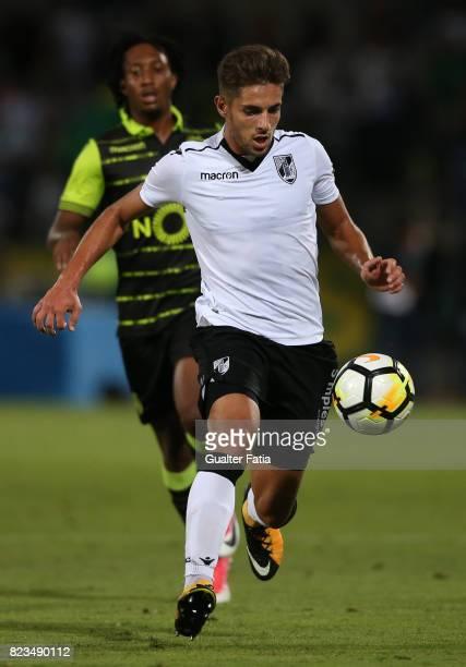 Vitoria Guimaraes forward Joao Vigario from Portugal in action during PreSeason Friendly match between Sporting CP and Vitoria Guimaraes at Estadio...