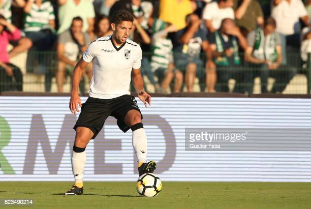 Vitoria Guimaraes forward Joao Vigario from Portugal in action during PreSeason Friendly match between Sporting CP and Vitoria Guimaraes at Estadio...