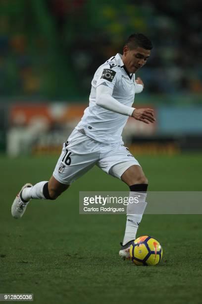 Vitoria Guimaraes forward Paolo Hurtado from Peru during the Portuguese Primeira Liga match between Sporting CP and Vitoria Guimaraes SC at Estadio...