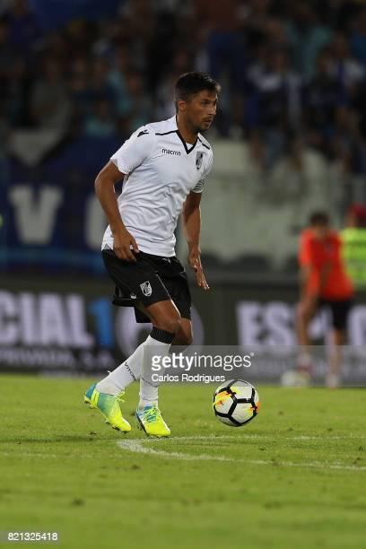 Vitoria Guimaraes forward Paolo Hurtado from Peru during the match between Vitoria Guimaraes v FC Porto match for the Guimaraes City Trophy at...
