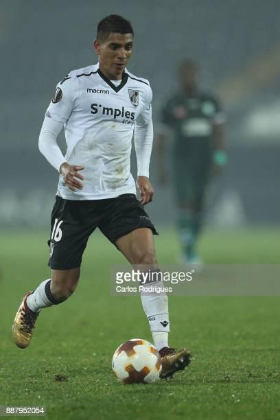 Vitoria Guimaraes forward Paolo Hurtado from Peru during the match between Vitoria Guimaraes and Atiker Konyaspor match for UEFA Europa League at...