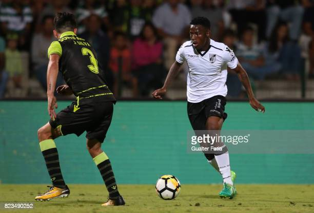 Vitoria Guimaraes forward Phakamani Mahlambi from South Africa in action during PreSeason Friendly match between Sporting CP and Vitoria Guimaraes at...