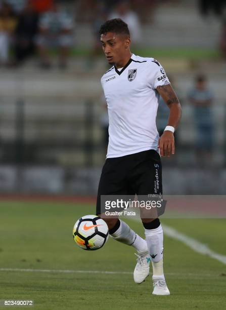 Vitoria Guimaraes forward Raphinha from Brazil in action during PreSeason Friendly match between Sporting CP and Vitoria Guimaraes at Estadio...