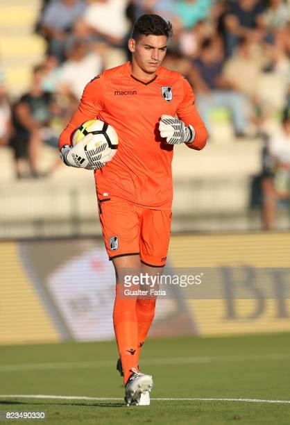 Vitoria Guimaraes goalkeeper Miguel Oliveira from Portugal in action during PreSeason Friendly match between Sporting CP and Vitoria Guimaraes at...