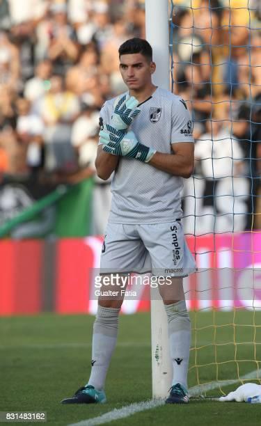 Vitoria Guimaraes goalkeeper Miguel Silva from Portugal in action during the Primeira Liga match between GD Estoril Praia and SL Benfica at Estadio...