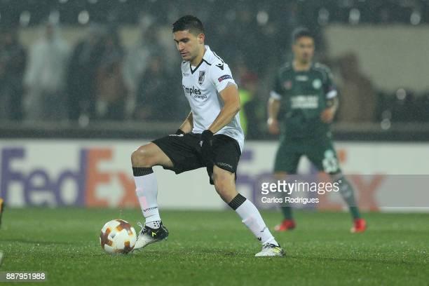 Vitoria Guimaraes midfielder Guilherme Celis from Colombia during the match between Vitoria Guimaraes and Atiker Konyaspor match for UEFA Europa...
