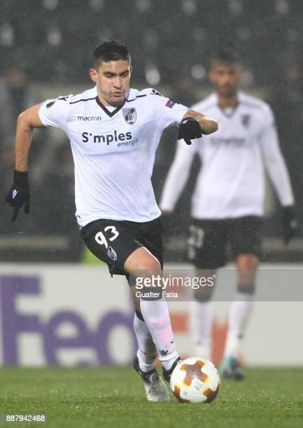 Vitoria Guimaraes midfielder Guilherme Celis from Colombia in action during the UEFA Europa League match between Vitoria de Guimaraes and Atiker...