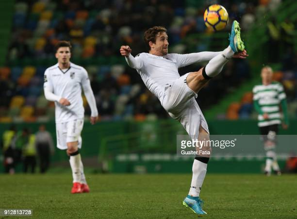 Vitoria Guimaraes midfielder Rafael Miranda from Brazil in action during the Primeira Liga match between Sporting CP and Vitoria Guimaraes at Estadio...