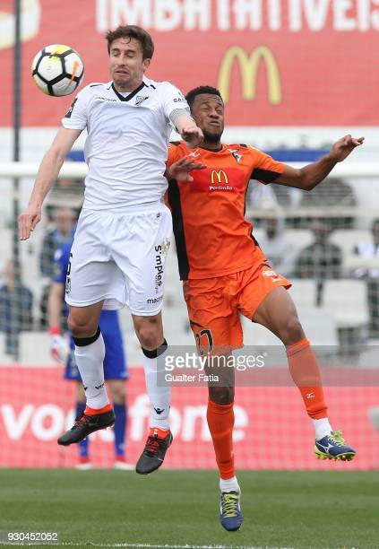 Vitoria Guimaraes midfielder Rafael Miranda from Brazil with Portimonense SC forward Wellington Carvalho from Brazil in action during the Portuguese...