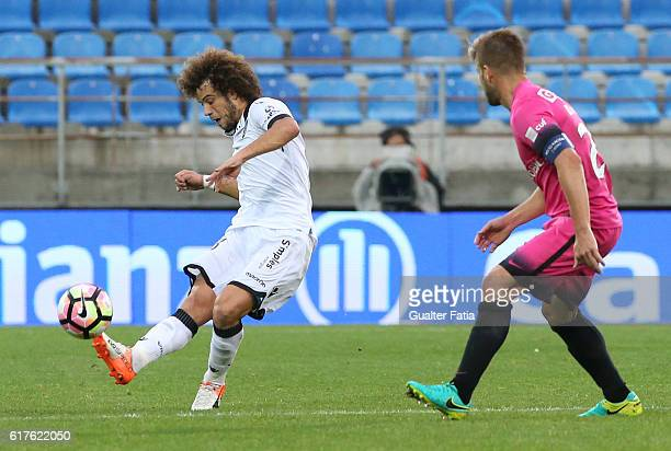 Vitoria Guimaraes' midfielder Rafael Miranda in action during the Primeira Liga match between GD Estoril Praia and Vitoria SC Guimaraes at Estadio...