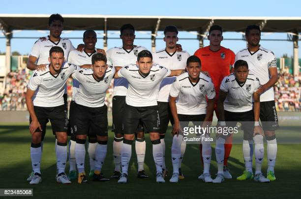 Vitoria Guimaraes players pose for a team photo before the start of PreSeason Friendly match between Sporting CP and Vitoria Guimaraes at Estadio...