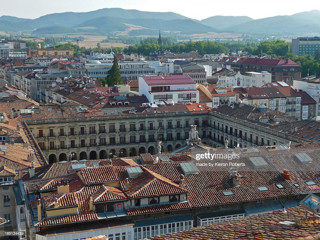 Vitoria, Plaza Nueva from San Vicente Church Tower : Stock Photo