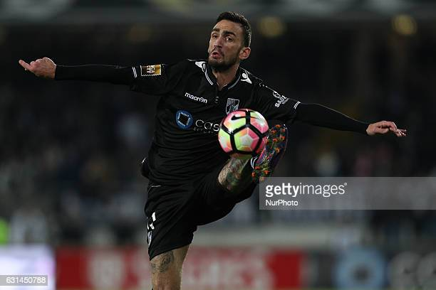 Vitoria SC's Portuguese defender Ruben Ferreira in action during the League Cup 2016/17 match between Vitoria SC and SL Benfica at Dao Afonso...