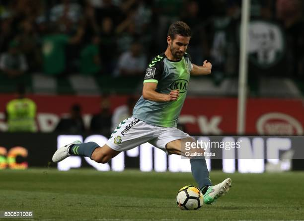 Vitoria Setubal defender Frederico Venancio from Portugal in action during the Primeira Liga match between Sporting CP and Vitoria Setubal at Estadio...
